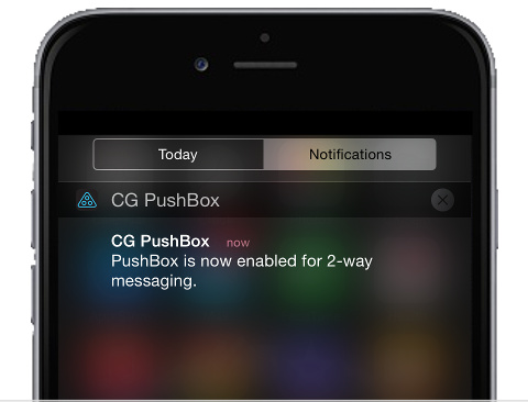 CG PushBox - Receive instant Push Messages sent from Cloud SMS
